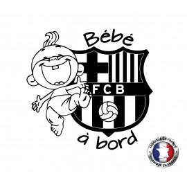 Stickers bébé à bord FC Barcelone