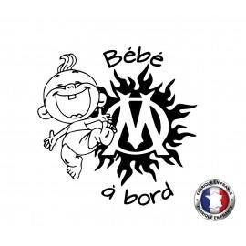 Stickers bébé à bord OM