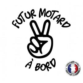 Stickers bébé à bord futur motard a bord