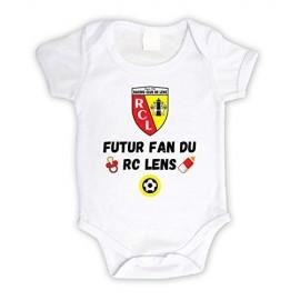 Body bébé personnalisé futur fan du RC Lens