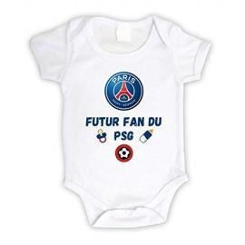 Body bébé personnalisé futur fan du PSG