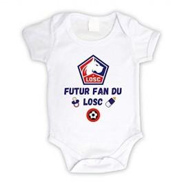 Body bébé personnalisé futur fan du LOSC