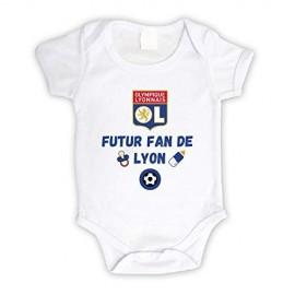 Body bébé personnalisé futur fan de Lyon