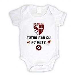 Body bébé personnalisé futur fan du FC Metz