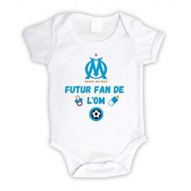 Body bébé personnalisé futur fan de l'OM