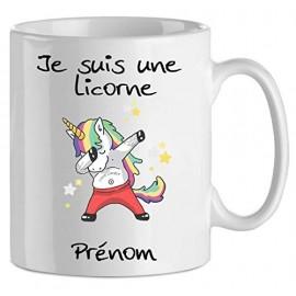 Mug tasse personnalisé je suis une licorne et prénom