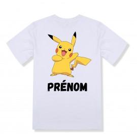 T-shirt enfant personnalisé Pokemon avec Pikachu et prénom