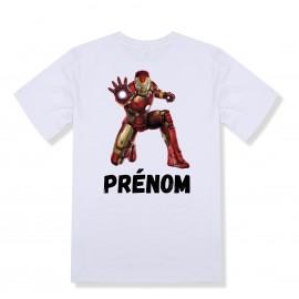 T-shirt enfant personnalisé Iron man et prénom