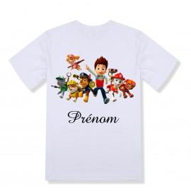 T-shirt enfant personnalisé pat patrouille et prénom