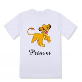 T-shirt enfant personnalisé Simba du roi lion et prénom