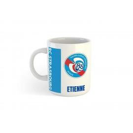 Mug tasse personnalisé foot Strasbourg et prénom