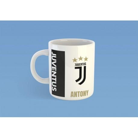 Mug tasse personnalisé foot Juventus et prénom