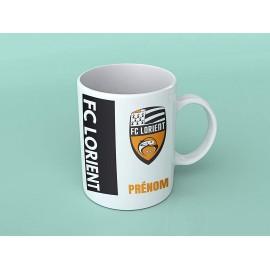 Mug tasse personnalisé foot FC Lorient et prénom