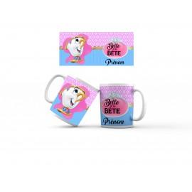 Mug tasse personnalisé belle et la bête Chip et prénom