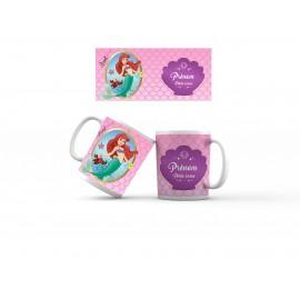 Mug tasse personnalisé Ariel petite sirène et prénom