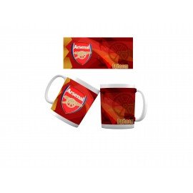 Mug tasse personnalisé foot Arsenal et prénom