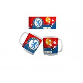 Mug tasse personnalisé foot Chelsea et prénom