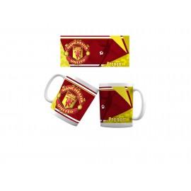 Mug tasse personnalisé foot Manchester United et prénom