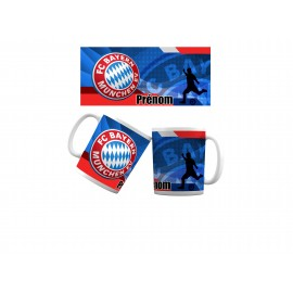 Mug tasse personnalisé foot Bayern Munich et prénom
