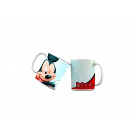 Mug tasse personnalisé Mickey logo étoiles et prénom