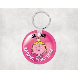 Porte clé personnalisé je suis madame princesse
