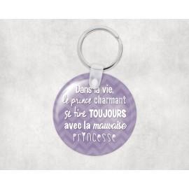 Porte clé personnalisé prince charmant
